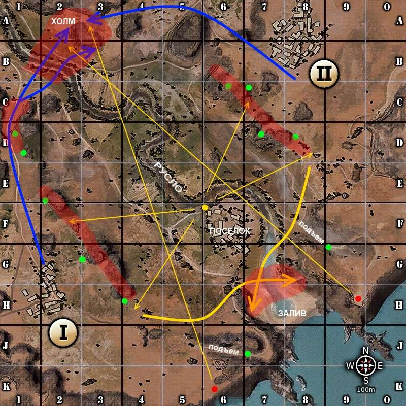 Карта Эль Халуф Тактика